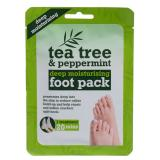 Xpel Tea Tree Tea Tree & Peppermint Deep Moisturising Foot Pack Krém na nohy pro ženy 1 ks