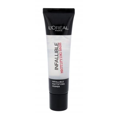 L´Oréal Paris Infallible Mattifying Base Báze pod make-up pro ženy 35 ml Odstín Transparent