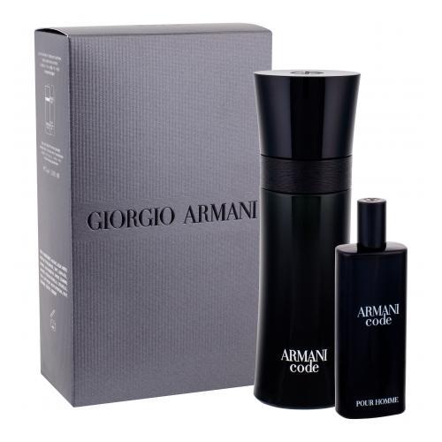 Giorgio Armani Armani Code Pour Homme dárková kazeta toaletní voda 75 ml + toaletní voda 15 ml pro muže