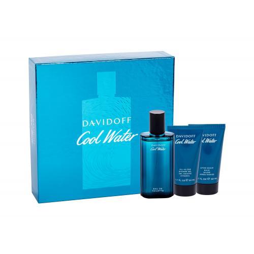 Davidoff Cool Water dárková kazeta toaletní voda 75 ml + sprchový gel 50 ml + balzám po holení 50 ml pro muže