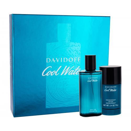 Davidoff Cool Water dárková kazeta toaletní voda 75 ml + deostick 75 ml pro muže