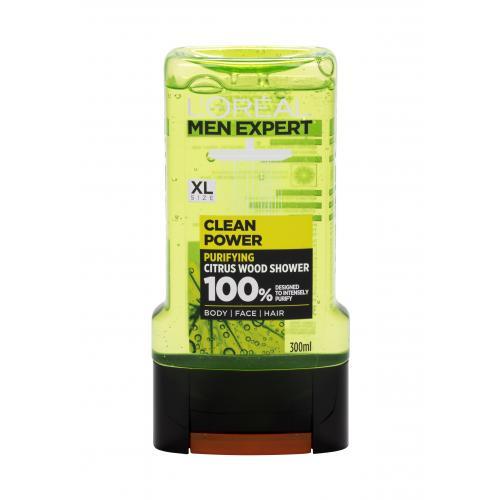 L´Oréal Paris Men Expert Clean Power sprchový gel 300 ml pro muže