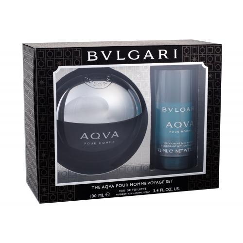 Bvlgari Aqva Pour Homme dárková kazeta toaletní voda 100 ml + deostick 75 ml pro muže