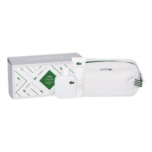 Lacoste Eau de Lacoste L.12.12 Blanc dárková kazeta toaletní voda 100 ml + sprchový gel 50 ml + kosmetická taška M