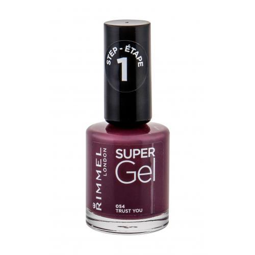 Rimmel London Super Gel STEP1 12 ml gelový lak na nehty pro ženy 054 Trust You