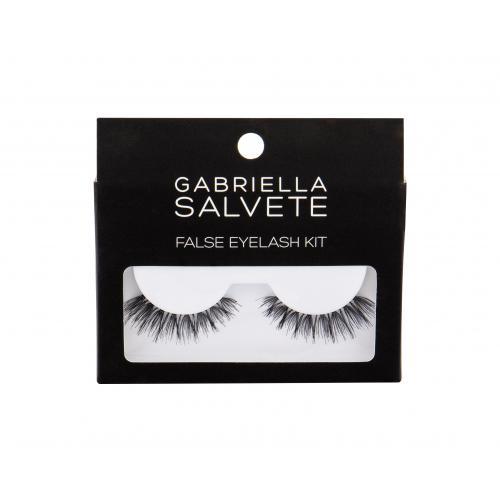 Gabriella Salvete False Eyelashes dárková kazeta umělé řasy 1 pár + lepidlo na řasy 1 g pro ženy Black