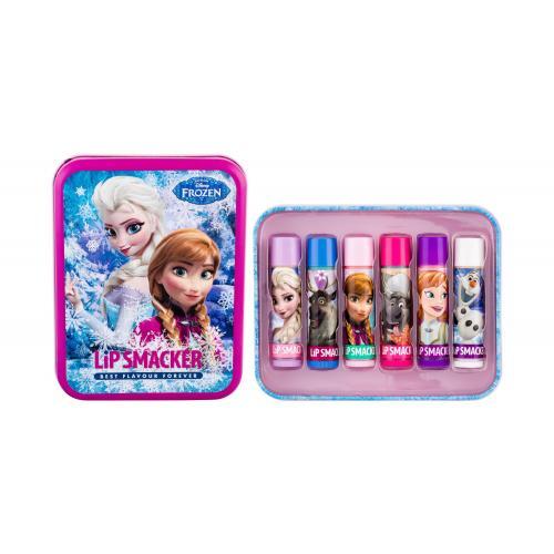 Lip Smacker Disney Frozen Lip Balm dárková kazeta balzám na rty 6 x 4 g + plechová dóza pro děti