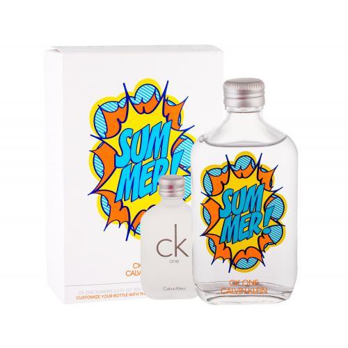 Calvin Klein CK One Summer 2019 dárková kazeta toaletní voda 100 ml + toaletní voda CK One 15 ml unisex
