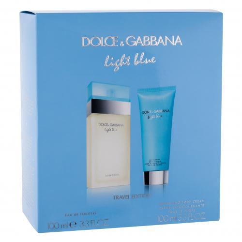 Dolce&Gabbana Light Blue dárková kazeta toaletní voda 100 ml + tělový krém 100 ml pro ženy