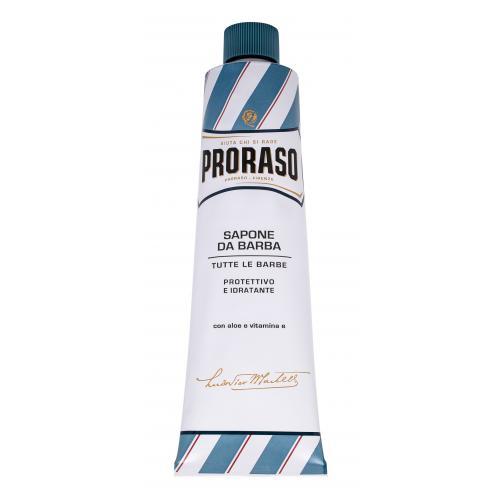 PRORASO Blue Shaving Soap In A Tube 150 ml mýdlo na holení v tubě s aloe vera pro muže