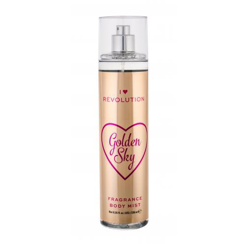 Makeup Revolution London I Heart Revolution Golden Sky tělový sprej 236 ml pro ženy