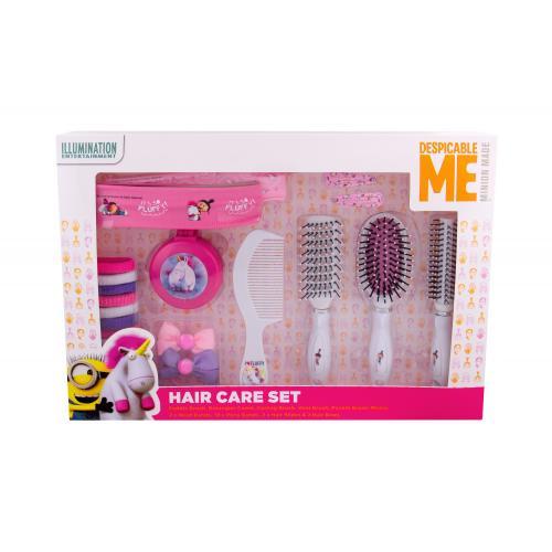 Minions Unicorns dárková kazeta poškozená krabička Complete Hair Care Kit pro děti