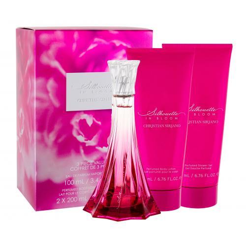 Christian Siriano Silhouette in Bloom dárková kazeta parfémovaná voda 100 ml + tělové mléko 200 ml + sprchový gel 200 ml