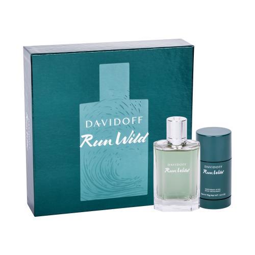 Davidoff Run Wild dárková kazeta toaletní voda 100 ml + deostick 75 ml pro muže