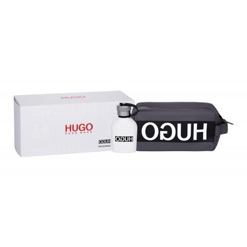 HUGO BOSS Hugo Reversed dárková kazeta toaletní voda 75 ml + kosmetická taška pro muže