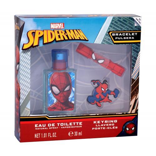 Marvel Spiderman dárková kazeta poškozená krabička toaletní voda 30 ml + klíčenka + náramek pro děti