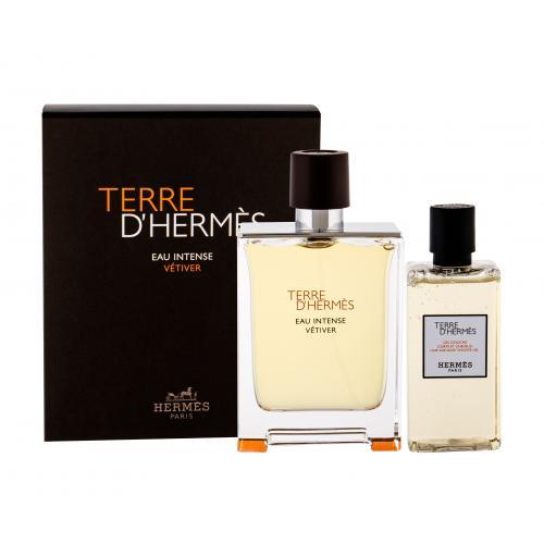 Hermes Terre d´Hermès Eau Intense Vétiver dárková kazeta poškozená krabička parfémovaná voda 100 ml + sprchový gel 80 ml