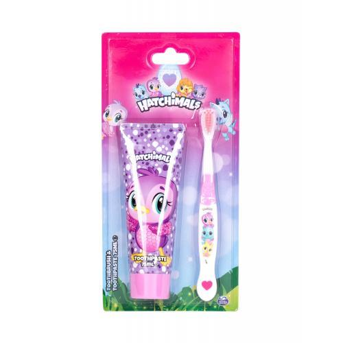 Hatchimals Hatchimals dárková kazeta zubní kartáček 1 ks + zubní pasta 75 ml pro děti