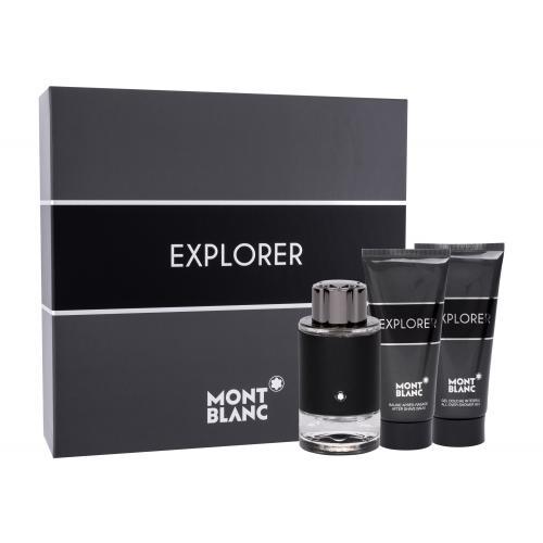 Montblanc Explorer dárková kazeta parfémovaná voda 100 ml + balzám po holení 100 ml + sprchový gel 100 ml pro muže