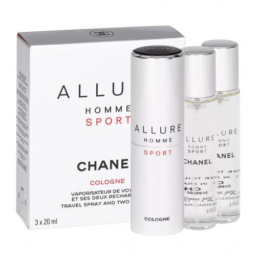 Chanel Allure Homme Sport Cologne 3x20 ml kolínská voda Twist and Spray pro muže