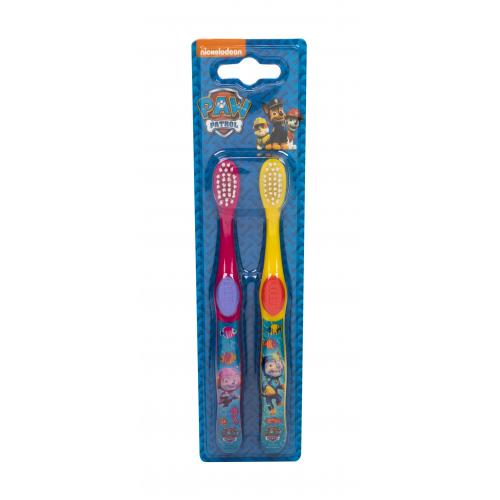 Nickelodeon Paw Patrol dárková kazeta zubní kartáček 2 ks pro děti