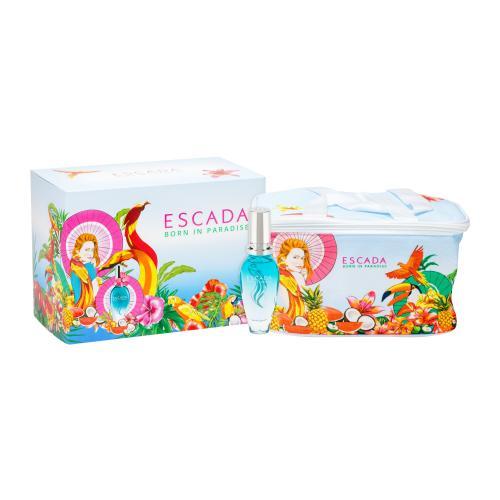 ESCADA Born in Paradise dárková kazeta toaletní voda 30 ml + kosmetická taštička pro ženy