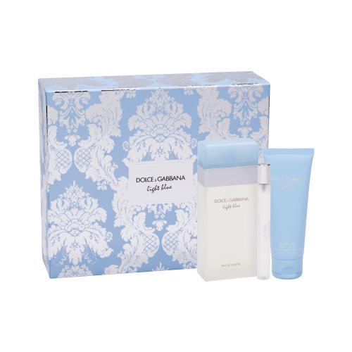 Dolce&Gabbana Light Blue dárková kazeta toaletní voda 100 ml + tělový krém 75 ml + toaletní voda 10 ml pro ženy