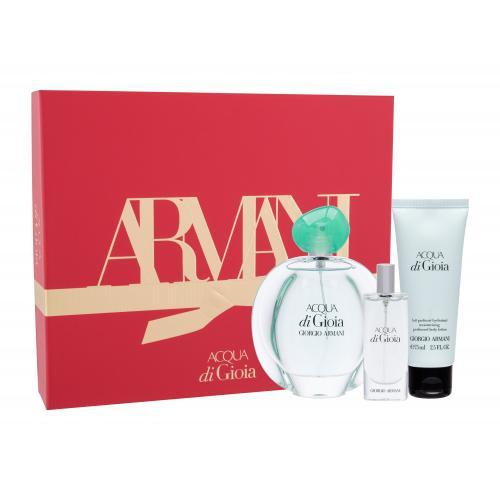 Giorgio Armani Acqua di Gioia dárková kazeta parfémovaná voda 100 ml + tělové mléko 75 ml + parfémovaná voda 15 ml W