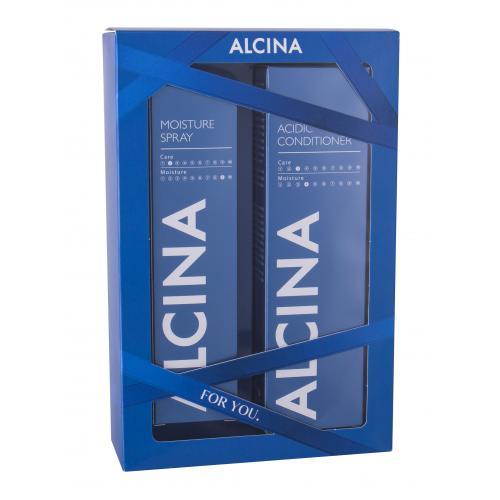 ALCINA Acidic Conditioner Moisture Set dárková kazeta balzám na vlasy 250 ml + hydratační sprej na vlasy 100 ml pro ženy