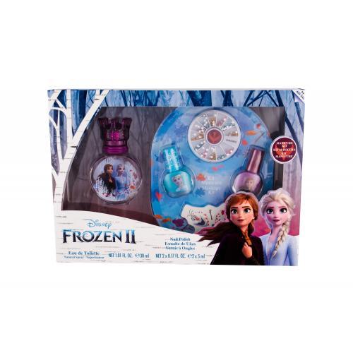 Disney Frozen II dárková kazeta toaletní voda 30 ml + lak na nehty 2 x 5 ml + pilník na nehty + zdob