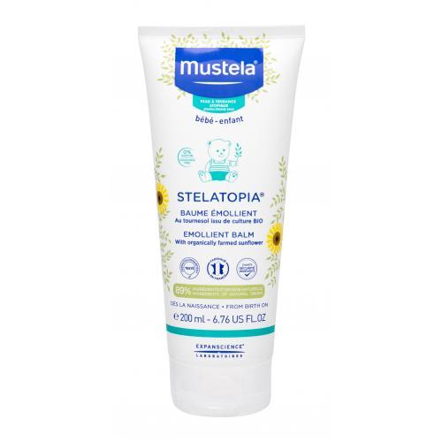 Mustela Bébé Stelatopia® Emollient Balm tělový balzám 200 ml pro děti