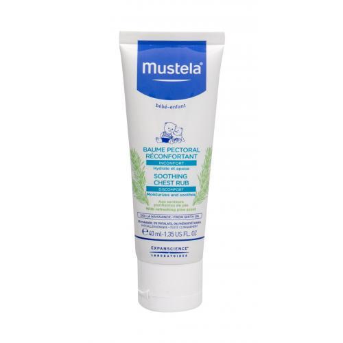 Mustela Bébé Soothing Chest Rub tělový balzám 40 ml pro děti