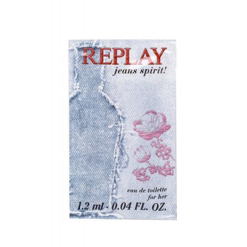 Replay Jeans Spirit! For Her 1,2 ml toaletní voda pro ženy miniatura