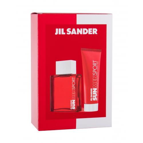 Jil Sander Sun Men Sport dárková kazeta toaletní voda 75 ml + sprchový gel 75 ml pro muže