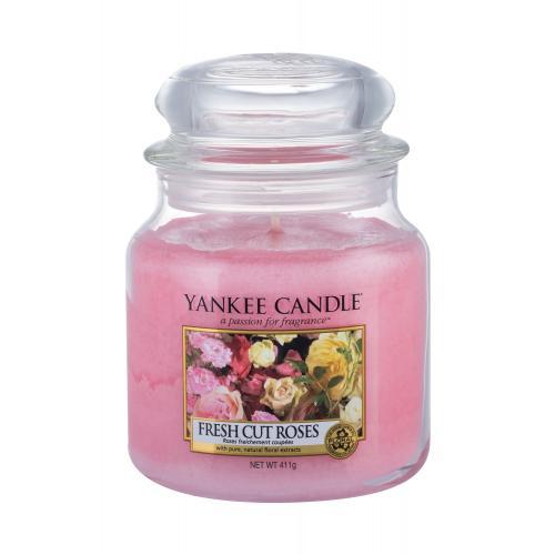 Yankee Candle Fresh Cut Roses vonná svíčka 411 g unisex