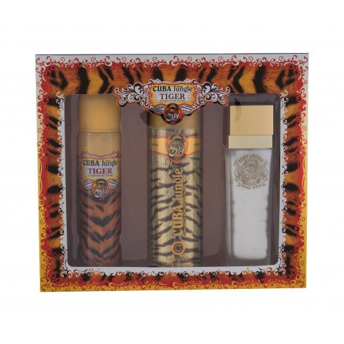 Cuba Tiger dárková kazeta parfémovaná voda 100 ml + deodorant 200 ml + tělové mléko 130 ml pro ženy