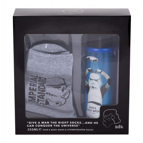 Star Wars Stormtrooper dárková kazeta sprchový gel 250 ml + ponožky pro děti