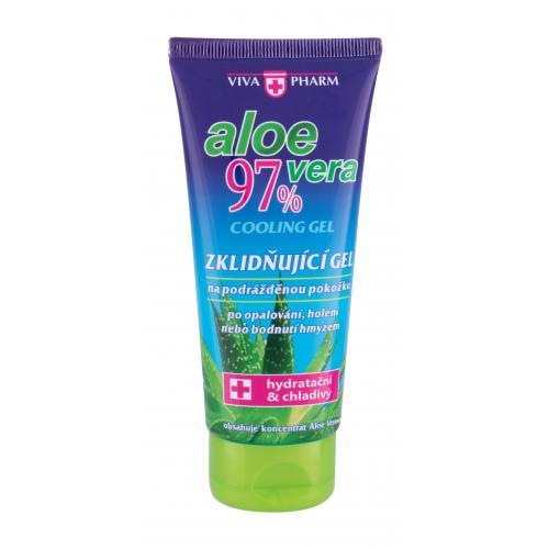 Vivaco VivaPharm Aloe Vera Cooling Gel 100 ml zklidňující chladivý gel po opalování, holení a bodnutí hmyzem unisex