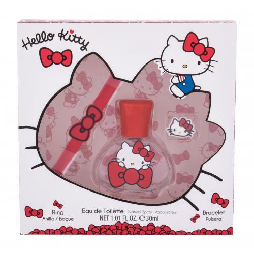 Hello Kitty Hello Kitty dárková kazeta pro děti toaletní voda 30 ml + náramek + prstýnek
