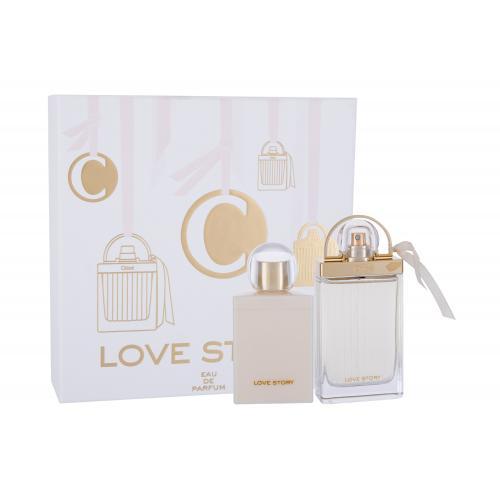Chloé Love Story dárková kazeta pro ženy parfémovaná voda 75 ml + tělové mléko 100 ml