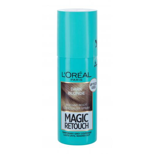 L´Oréal Paris Magic Retouch Instant Root Concealer Spray 75 ml sprej pro zakrytí odrostů pro ženy Dark Blond