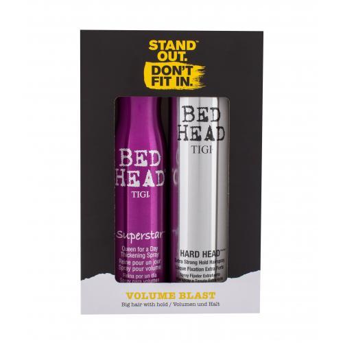 Tigi Bed Head Volume Blast dárková kazeta pro ženy lak na vlasy Bed Head Superstar 311 ml + lak na vlasy Bed Head Hard Head 385 ml