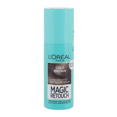 L´Oréal Paris Magic Retouch Instant Root Concealer Spray 75 ml sprej pro zakrytí odrostů pro ženy Cold Brown