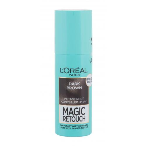 L´Oréal Paris Magic Retouch Instant Root Concealer Spray 75 ml sprej pro zakrytí odrostů pro ženy Dark Brown