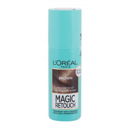 L´Oréal Paris Magic Retouch Instant Root Concealer Spray 75 ml sprej pro zakrytí odrostů pro ženy Brown