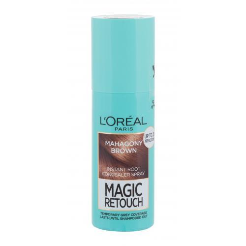 L´Oréal Paris Magic Retouch Instant Root Concealer Spray 75 ml sprej pro zakrytí odrostů pro ženy Mahagony Brown