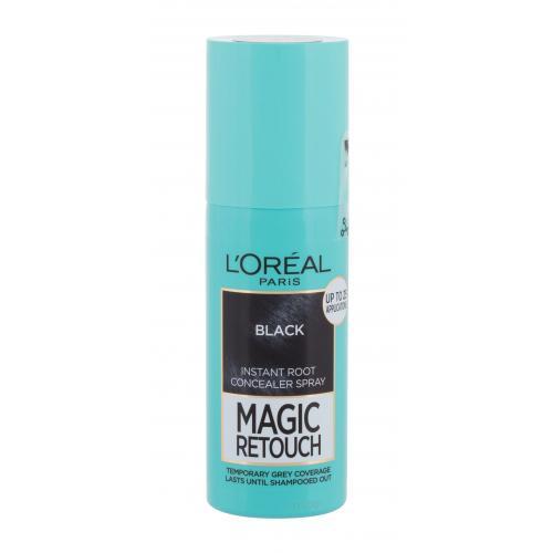 L´Oréal Paris Magic Retouch Instant Root Concealer Spray 75 ml sprej pro zakrytí odrostů pro ženy Black