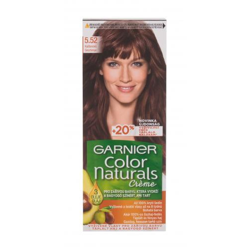 Levně Garnier Color Naturals Créme 40 ml barva na vlasy pro ženy 5,52 Chestnut na barvené vlasy; na všechny typy vlasů