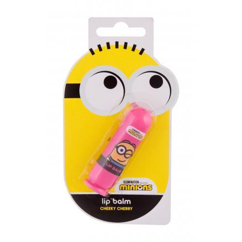Minions Lip Balm 4,5 g balzám na rty s třešňovou vůní pro děti Cheeky Cherry