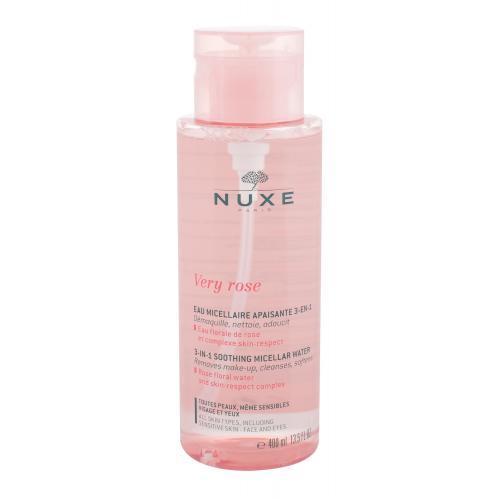 NUXE Very Rose 3-In-1 Soothing 400 ml hydratační čisticí a odličovací micelární voda pro ženy